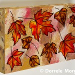 Autumn Leaves On Pink And Ochre Box